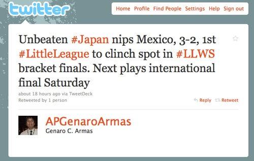 AP Correspondent Becomes Inadvertent Racist In Little League Tweet