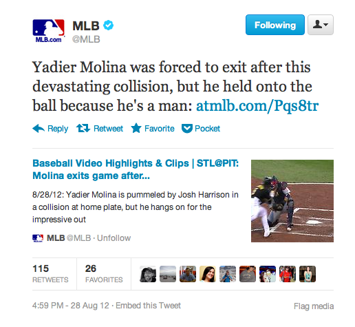 "Yadier Molina Held Onto This Ball Like ""A Man,"" According To Suddenly Unpopular MLB Employee"