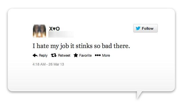 Cuidado con quejarte en Twitter de tu trabajo, FireMe! te vigila