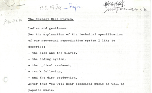 "1979 Rumor: Leaked Docs of ""Compact Disc"" Audio Format Using LASERS"