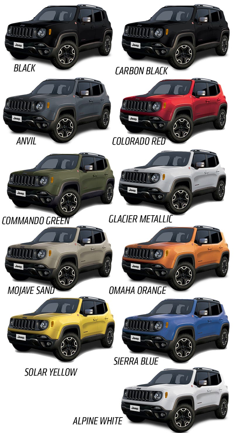 2015 jeep renegade will come in a big selection of great colors. Black Bedroom Furniture Sets. Home Design Ideas