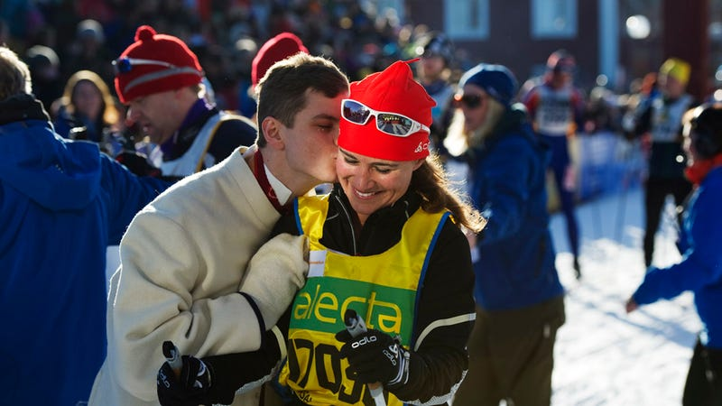 Living the Dream: Guy Rushes Pippa Middleton and Gives Her a Kiss