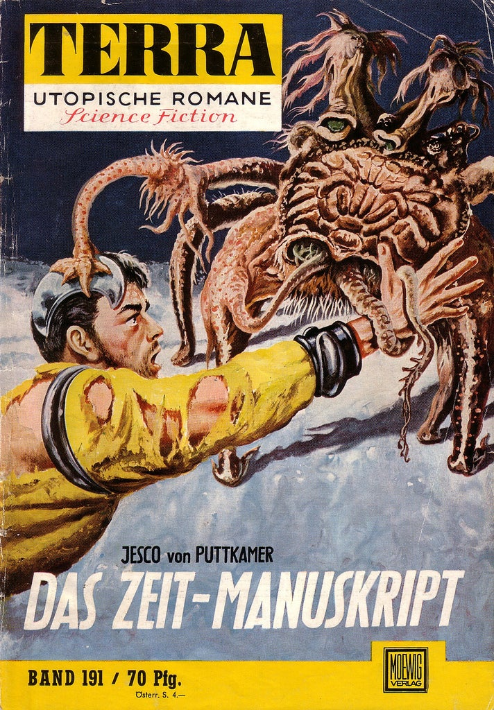 Germany's greatest postwar science fiction magazine was bursting with terrifying monsters