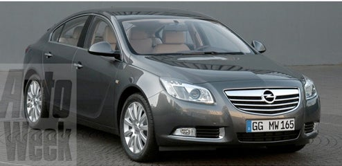 2009 Opel Insignia Revealed Early, Sans Carefully Placed Tape