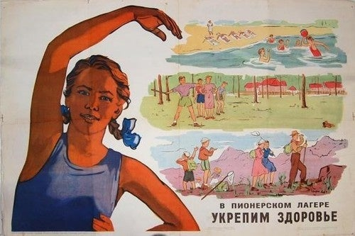 Salute your borscht — scenes from Soviet summer camps