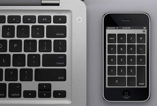 Numberkey Transforms iPhone Into Sweet Wireless Numberpad