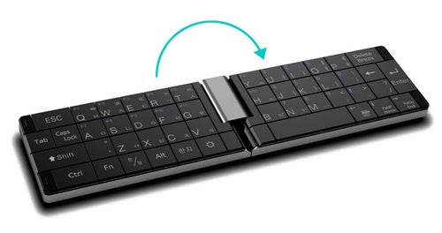 Foldable Keyboard for Tablets Doubles as Phone Handset