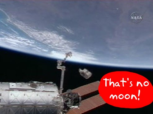 It's a Bird! It's a Plane! It's... the ISS Flushing the Toilet!