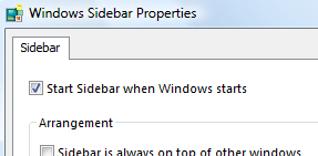 Windows Vista Tip: Disable the Sidebar