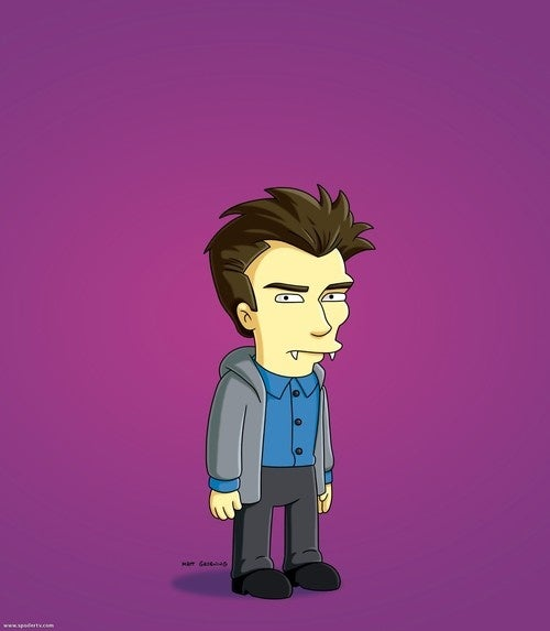 First look at The Simpsonized Daniel Radcliffe, as a sparkle vamp!