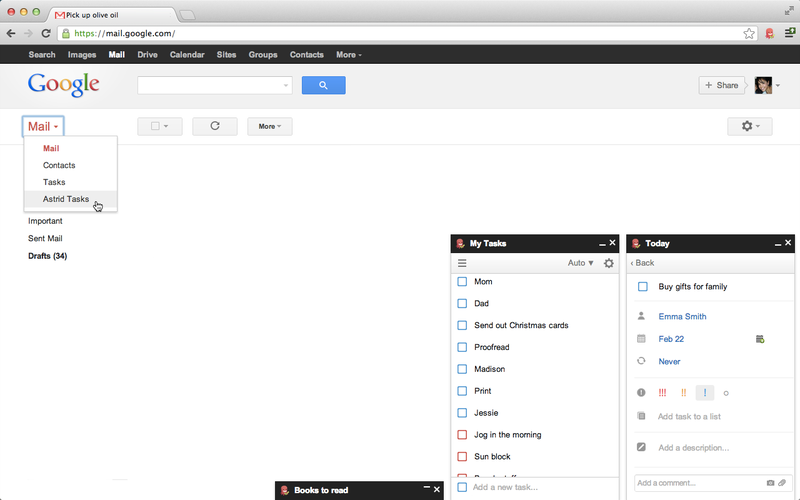 Astrid Integrates with Your Gmail, Turns Your Email into To-Dos