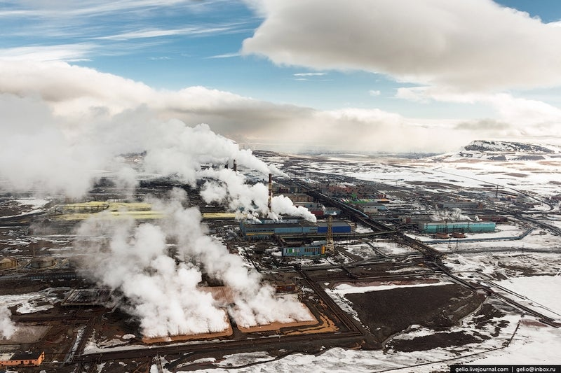 World's northernmost big city is a brutal mosaic of color and pollution