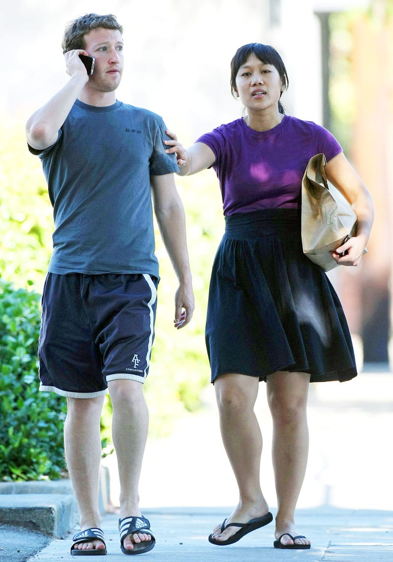 Mark Zuckerberg Has Yet to Retire His 'F— You' Sandals, to Girlfriend's Dismay