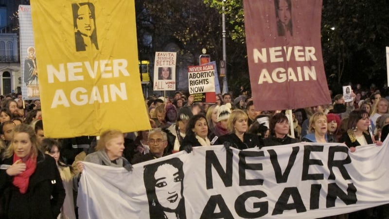 Dublin Protesters Rally for Woman Who Died After Being Denied an Abortion
