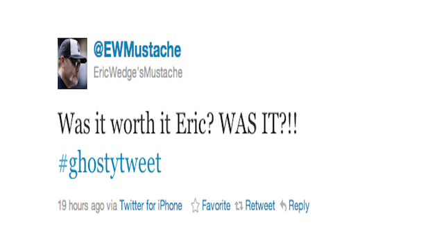 Eric Wedge's Mustache Tweets From The Dead