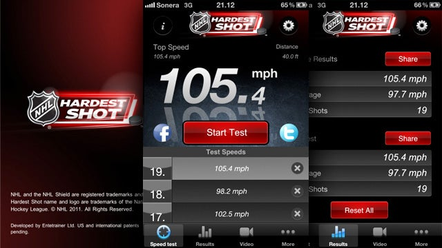 Hardest Shot App Measures Slapshot Speeds: Decides If You're NHL Material