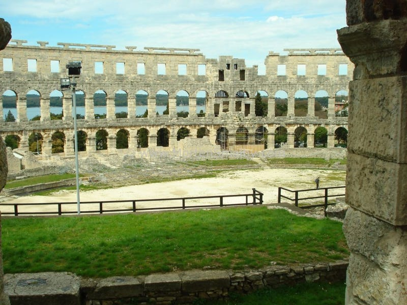 The New Best Place For An Outdoor Hockey Game: A Roman Amphitheater