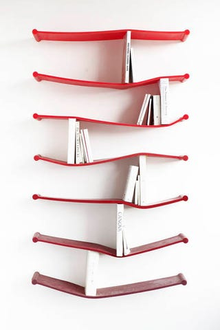 Bendy Rubber Bookshelves Literally Accommodate Whatever Literary Tastes You Have On Hand