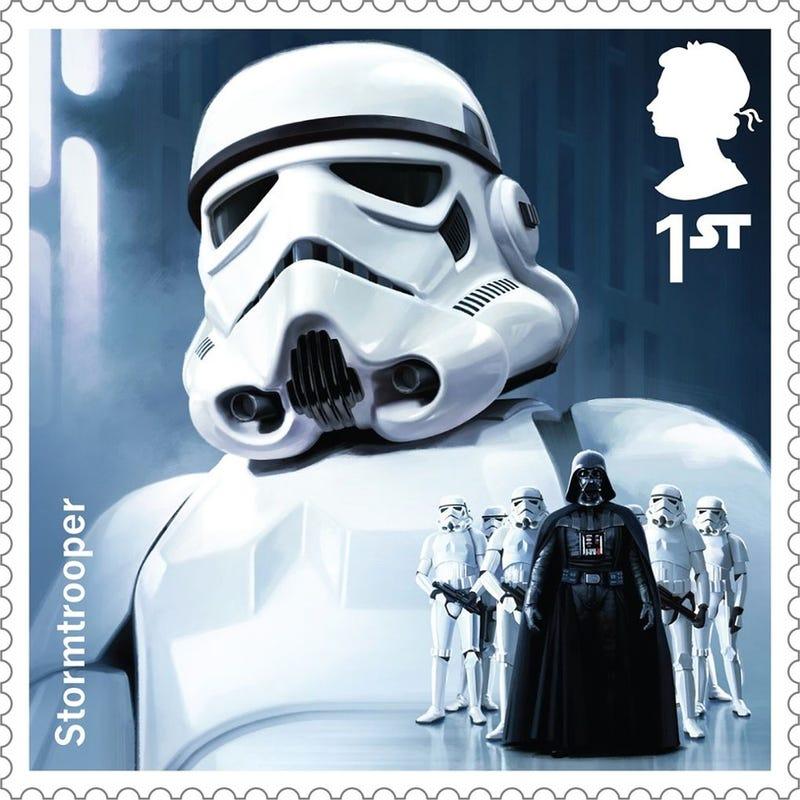 Las estampillas oficiales de Star Wars son una maravilla para coleccionistas