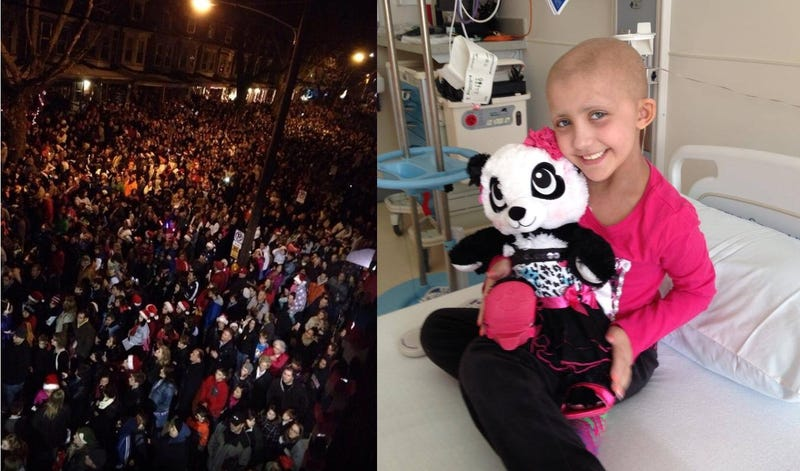 Dying Girl Gets Last Christmas Wish as Small Town Flooded with Carolers