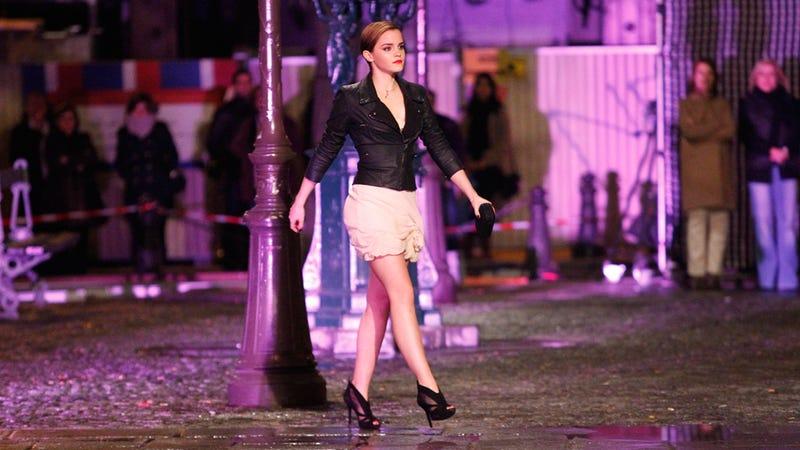 Emma Watson Struts The Streets For Lancôme