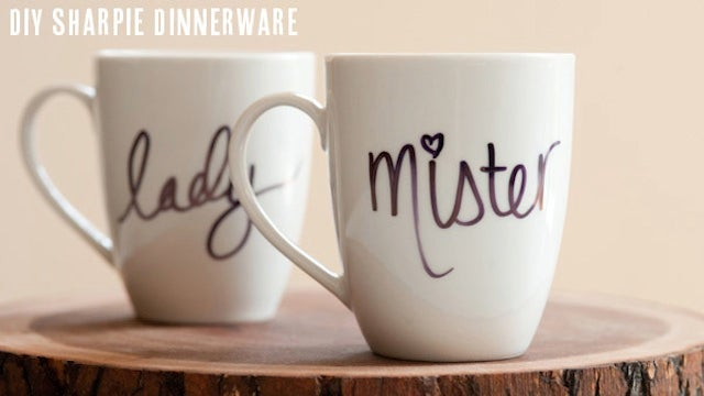 Use a Sharpie to Make Custom Coffee Mugs, Personalized Plates, and More