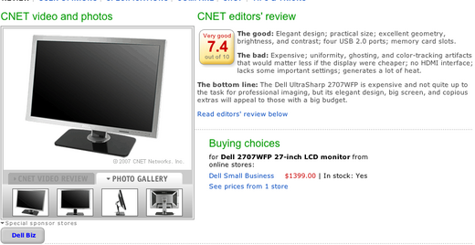 The 27-inch Dell LCD Dilemma: Why it's Brilliant...But Too Pricey Today