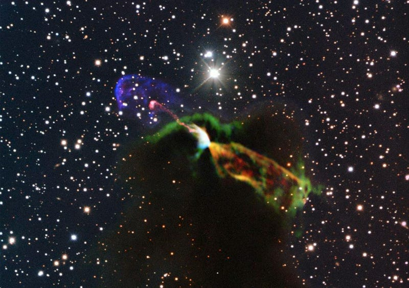 Zoom in on the Birth of a Star from Thousands of Light Years Away