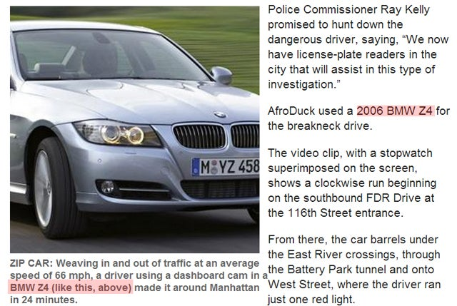 NYPD Commissioner Declares War On 'Afroduck' After Jalopnik Article