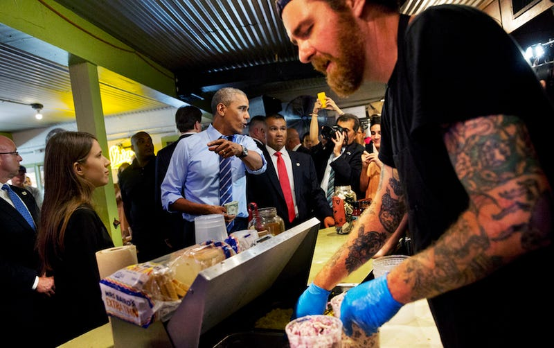 Obama Fist Bumps Texas BBQ Cashier in Response to Gay Sex Joke
