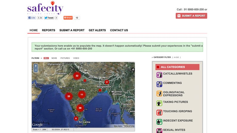Women In India Use Smartphones To Map Perverts In Real Time