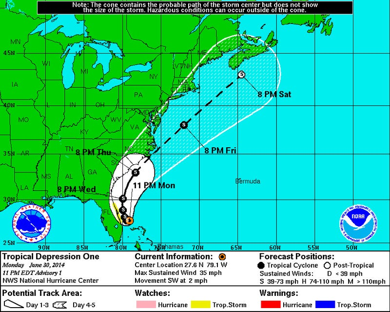 Tropical Depression One, Soon to Be Arthur, Finally Forms Near Florida