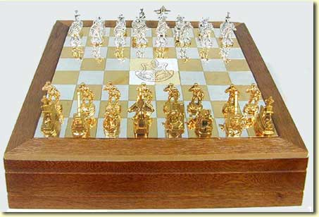 The IDF Chess Set Made From Sterling Silver