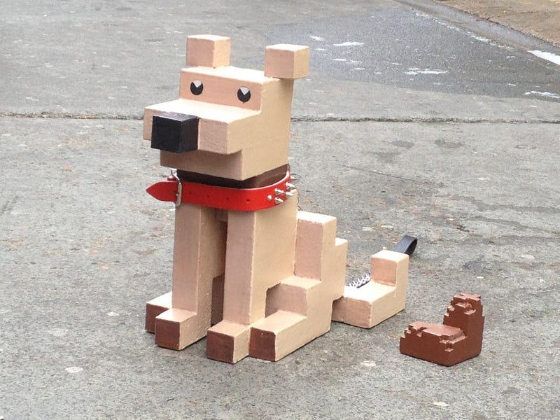 Una calle de Londres se transforma en escena de 8 bits (perrito incluido)
