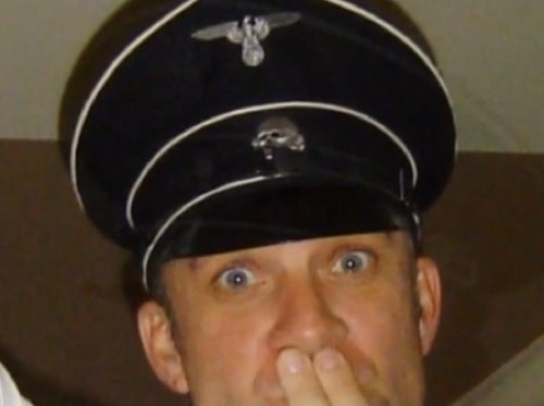 Here Is Jesse James Doing a Nazi Salute While Wearing a Nazi Hat