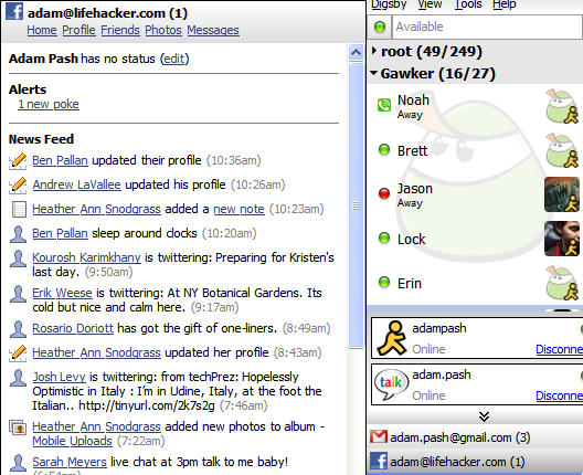 Consolidate IM, Email, and Social Networking with Digsby