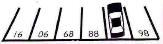can you figure out this parking lot 39 s numbering system. Black Bedroom Furniture Sets. Home Design Ideas