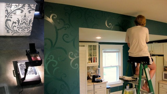 Paint Decorative Accents Using an Overhead Projector as a Stencil