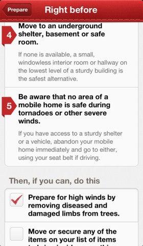 Red Cross Tornado App Gallery