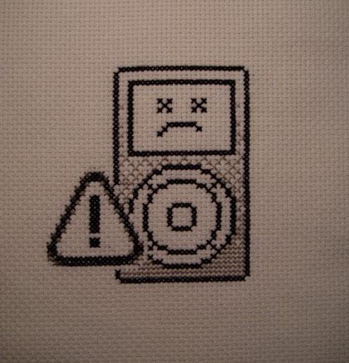 Dead iPod Cross-Stitch Warms Hearts, Cools Tempers