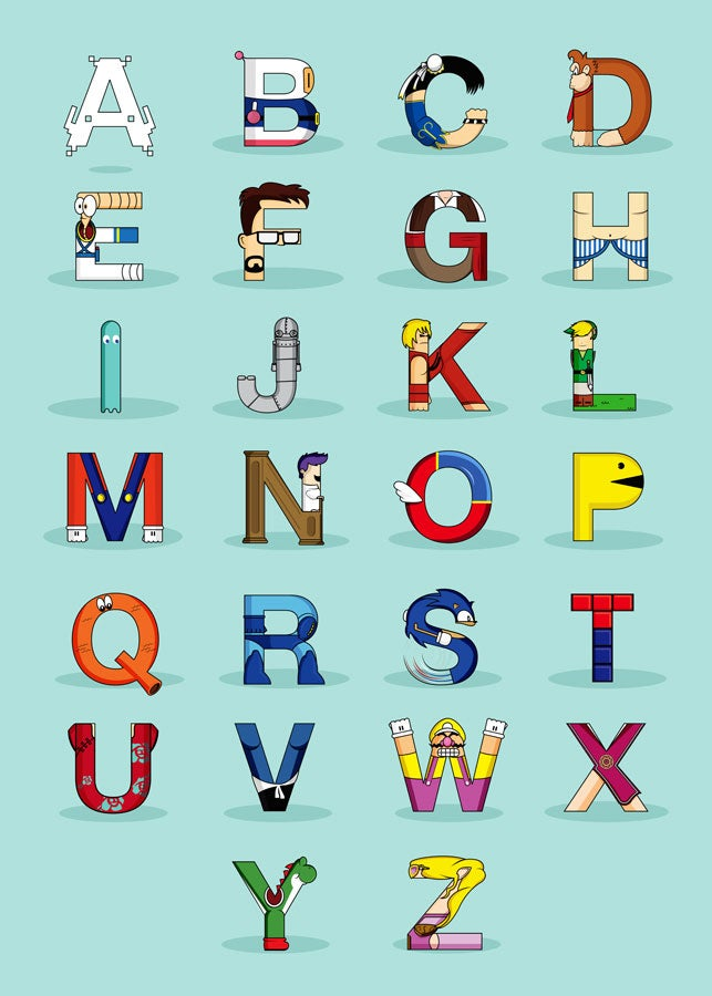 Now You Know Your Video Game ABCs
