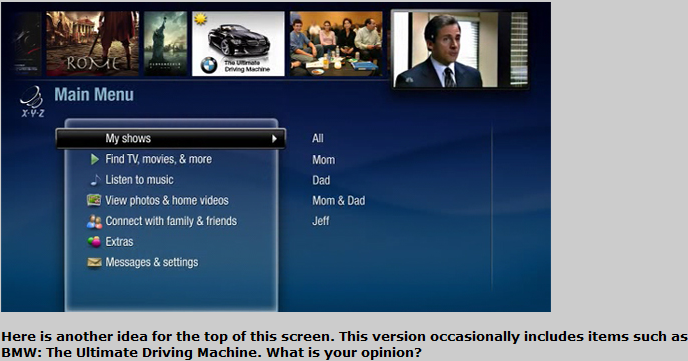 A Sneak Peek at the New TiVo User Interface