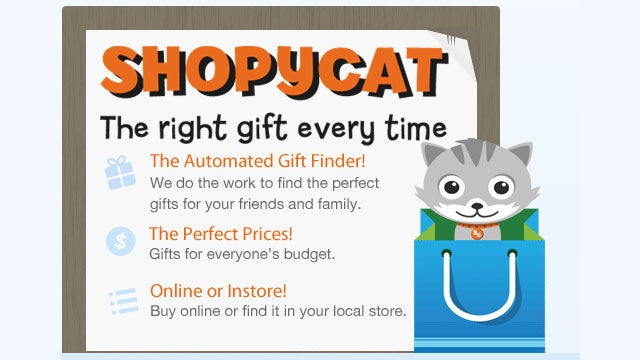 Shopycat Recommends Gifts for Your Facebook Friends