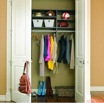 Take Advantage of Vertical Space and Depth for Efficient Coat Closet Storage