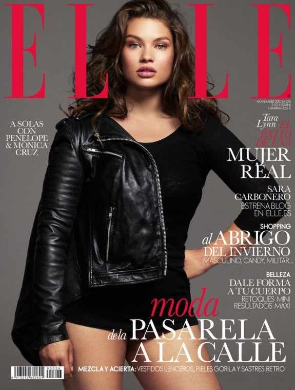 Elle Spain puts plus-size model on cover, sky does not fall