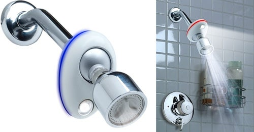 Sylvania Ecolight Water-Powered LED and Temperature Gauge For Your Showerhead