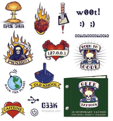 Show Your Tough Side With McPhee's Geek Tattoos