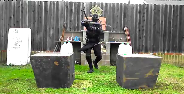 The Backyard Ninja Decapitates a Plastic Army