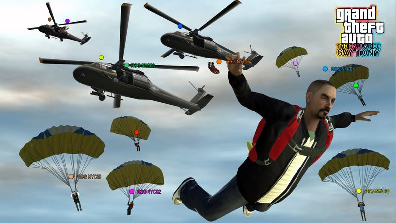GTA: The Ballad of Gay Tony Multiplayer: Parachutes, Tanks, Choppers!