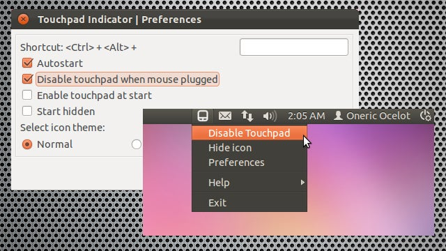 Touchpad-Indicator for Ubuntu Lets You Quickly Enable or Disable a Laptop Touchpad
